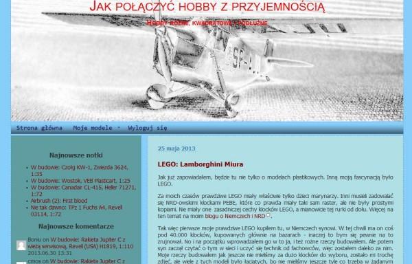 Screenshot http://hobbyblog.cmosnet.eu