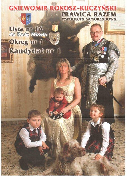 Wahlplakat eines Möchtegern-Adeligen